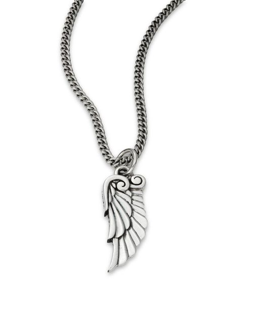 King Baby Studio | Metallic Sterling Silver Bird-wing Pendant Necklace | Lyst