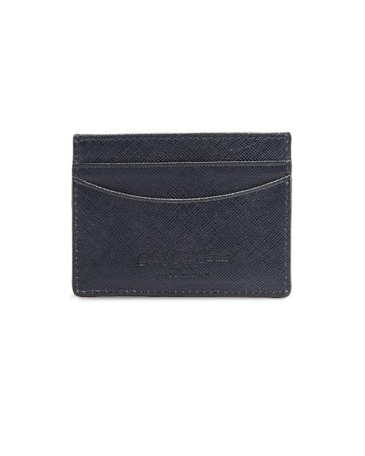 Saks Fifth Avenue - Blue Leather Card Case for Men - Lyst