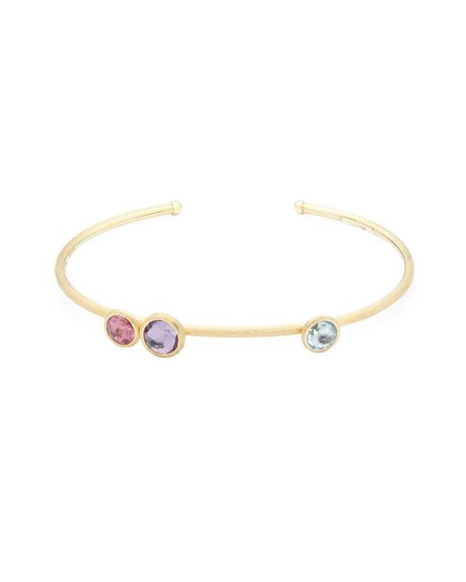Marco Bicego - Metallic 18k Yellow Gold Amethyst & Topaz Bangle Bracelet - Lyst