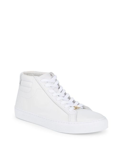 True Religion - White Leather High Top Sneakers for Men - Lyst