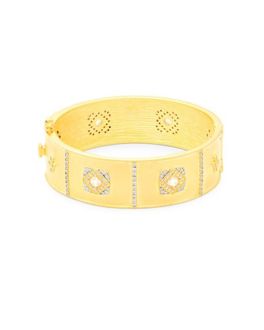 Freida Rothman - Metallic Crystal And Sterling Silver Visionary Bracelet - Lyst