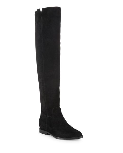 Ash - Black Flat Suede Boots - Lyst