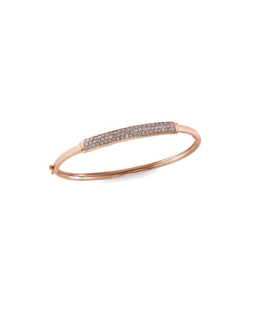Effy | Metallic Diamond & 14k Rose Gold Bangle Bracelet | Lyst