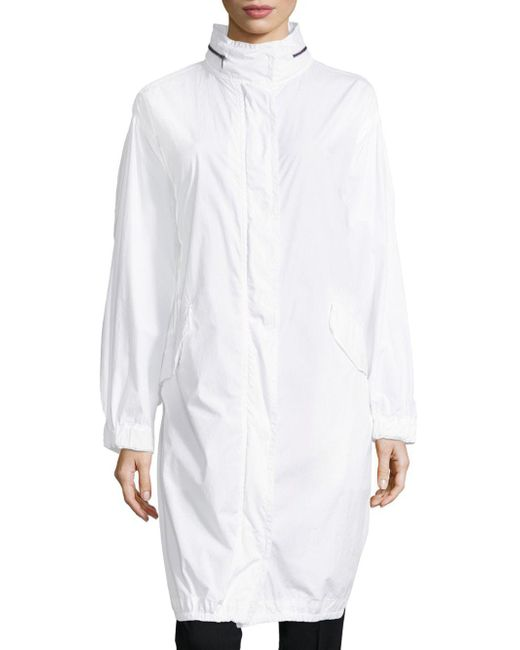 Vince - White Long Sleeves Cotton Coat - Lyst