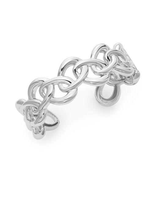 Saks Fifth Avenue - Metallic Sterling Silver Oval Link Cuff Bracelet - Lyst