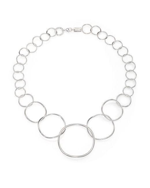 Ippolita - Metallic Glamazon Sterling Silvery Wavy Circle Necklace - Lyst