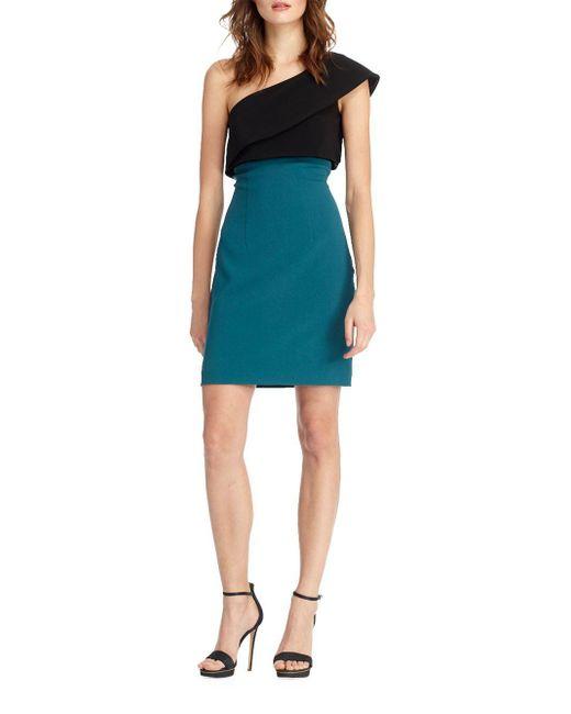 ML Monique Lhuillier - Blue Sash One Shoulder Dress - Lyst
