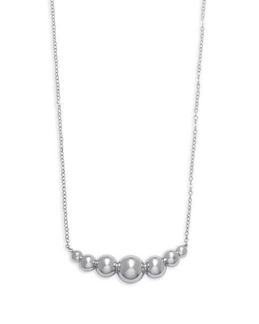 Saks Fifth Avenue - Metallic Sterling Silver Graduated Beads Single Strand Necklace - Lyst