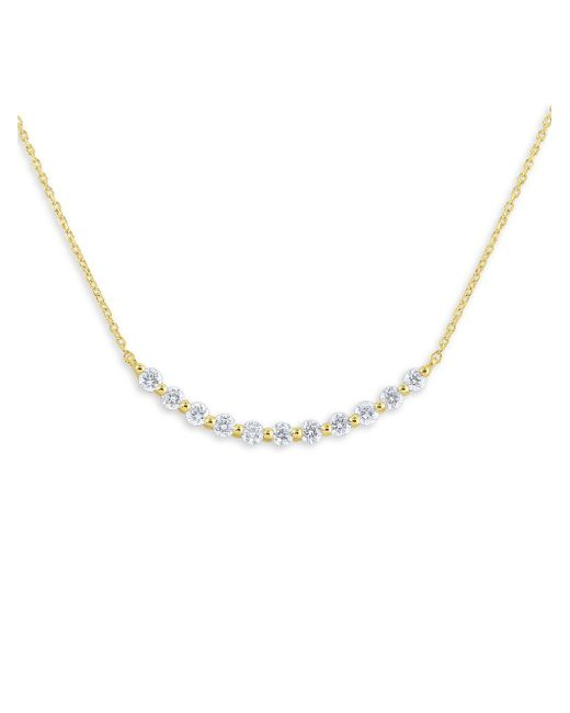 KC Designs - Metallic 14k Yellow Gold Pavé Diamond Smile Necklace - Lyst