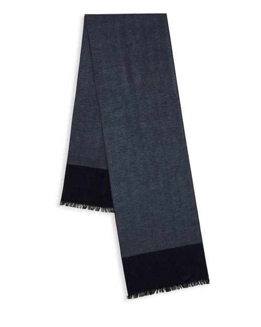 Saks Fifth Avenue | Blue Silk Herringbone Scarf for Men | Lyst