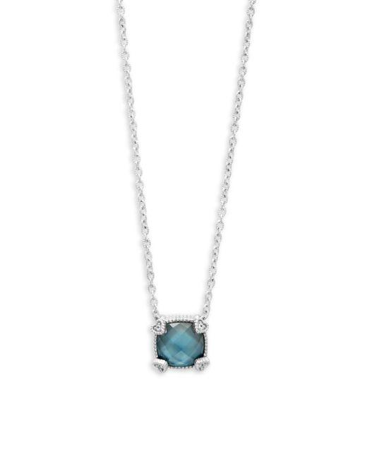 Judith Ripka - London Blue Topaz & Sterling Silver Pendant Necklace - Lyst