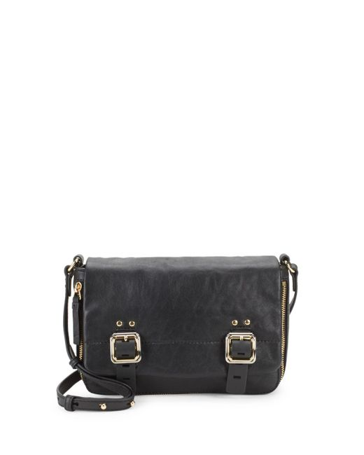 Vince Camuto - Black Delos Leather Crossbody Bag - Lyst