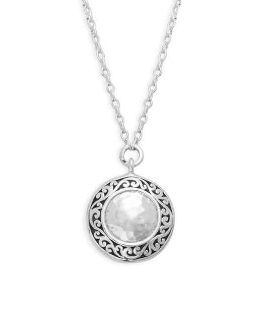 Lois Hill - Metallic Classic Sterling Silver Pendant Necklace - Lyst