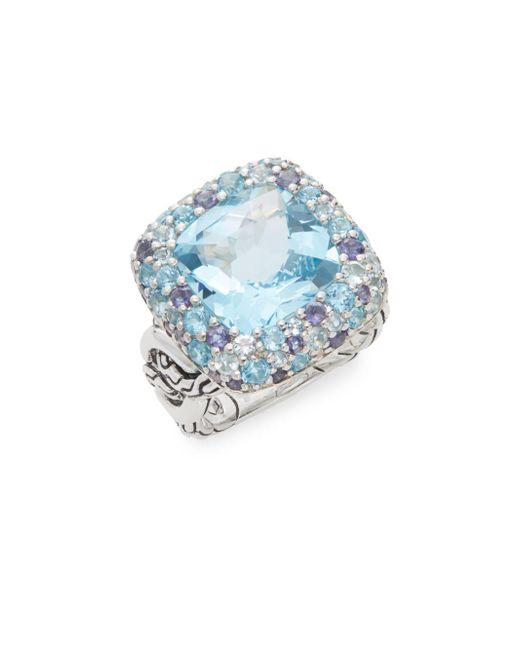 John Hardy - Blue Batu Klasik Ring - Lyst