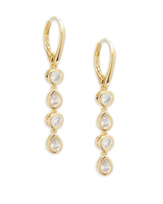 Adriana Orsini | Metallic Crystal Four-link Drop Earrings | Lyst