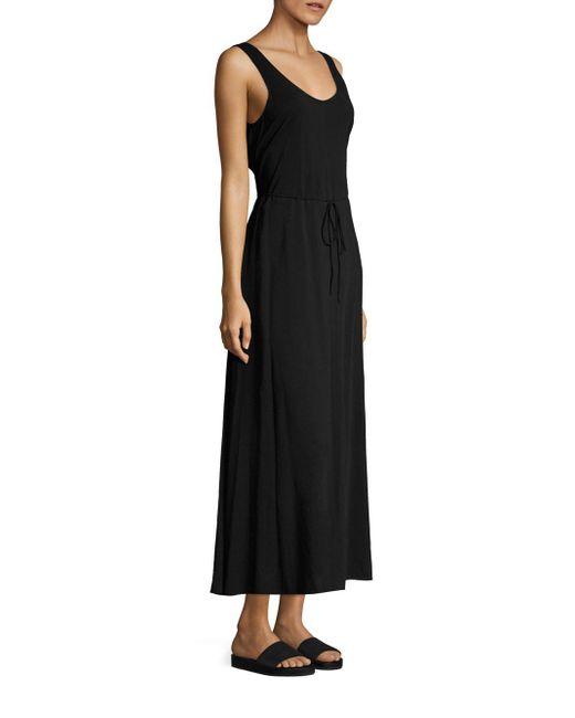 Vince - Black Wrap Back Dress - Lyst