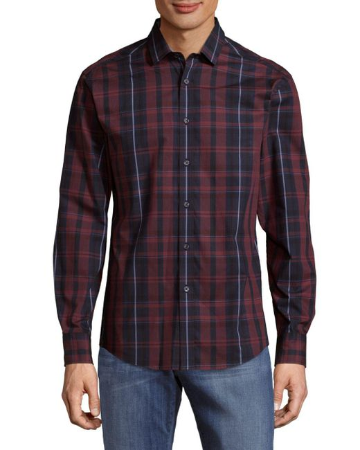 Vince Camuto | Purple Two-toned Button-down Shirt for Men | Lyst