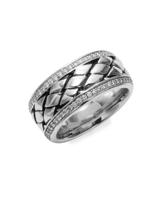 Effy - Metallic Diamond And Sterling Silver Ring - Lyst