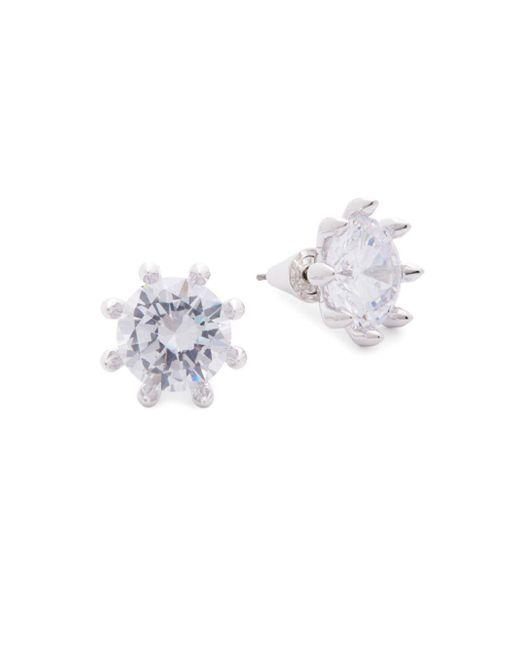 Eddie Borgo - Metallic Faceted Crystal Stud Earrings - Lyst