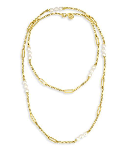 Majorica - Metallic Modern 6mm Organic Pearl Necklace - Lyst