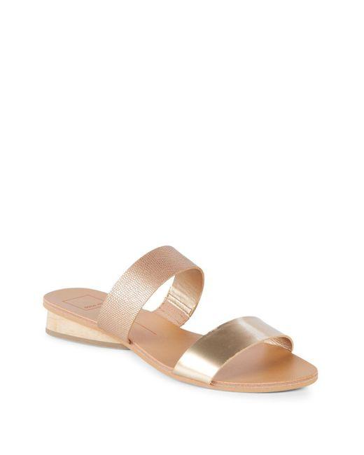 Dolce Vita - Pink Alan Open Toe Wedge Sandals - Lyst