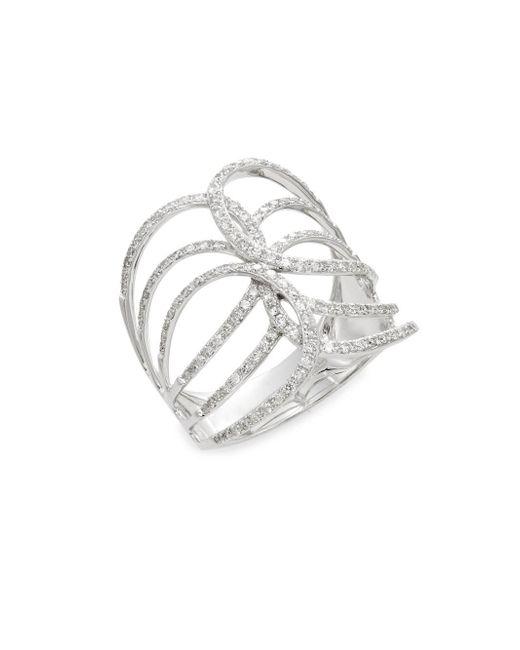 Effy - Metallic 0.54 Tcw Diamond & 14k White Gold Ring - Lyst