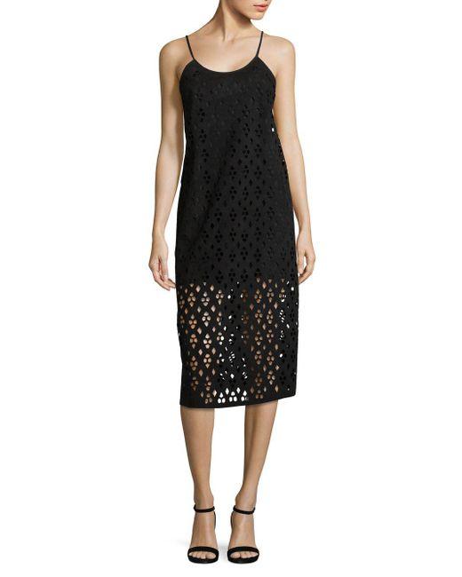 Tibi - Black Aleyda Sleeveless Cutout Dress - Lyst