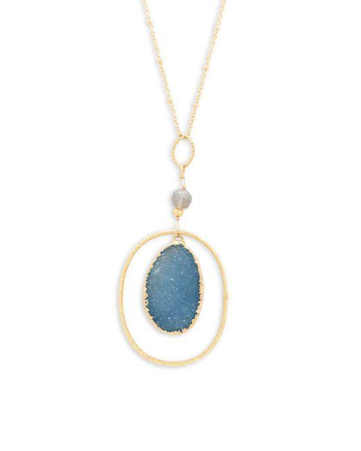 Alanna Bess - Multicolor Oval Pendant Necklace - Lyst