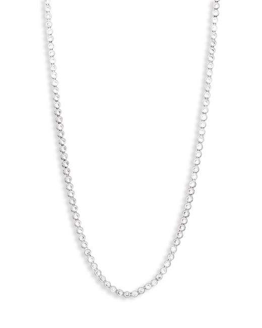 CZ by Kenneth Jay Lane - Metallic Cubic Zirconia Round Bezel Necklace - Lyst