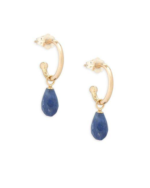 Saks Fifth Avenue - Metallic Sapphire And 14k Gold Drop Earrings - Lyst