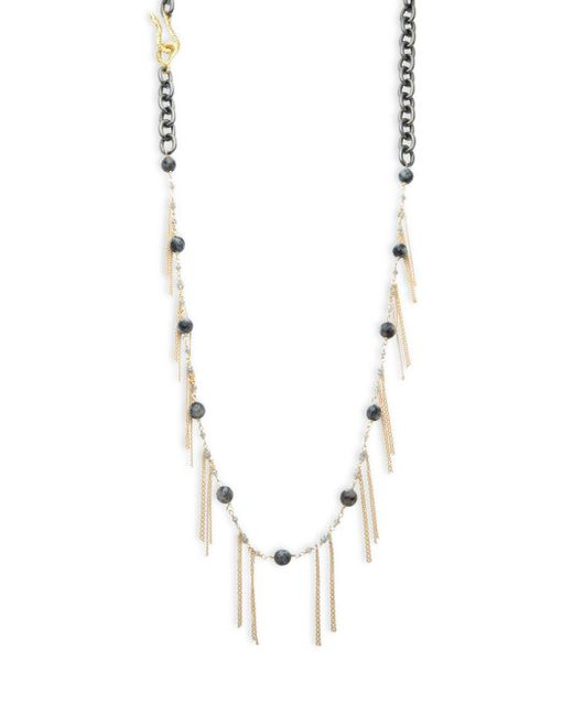 Shoshanna - Metallic Elle Fringed Necklace - Lyst