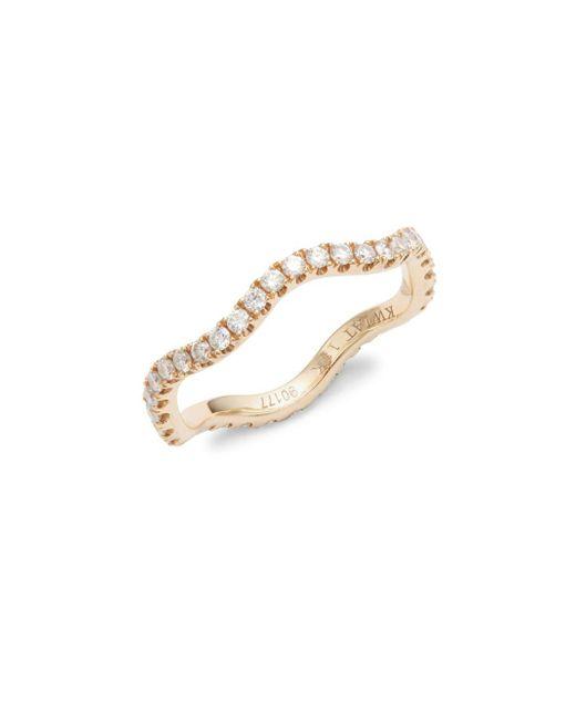 Kwiat | Metallic Wave Diamond & 18k Rose Gold Wedding Ring | Lyst