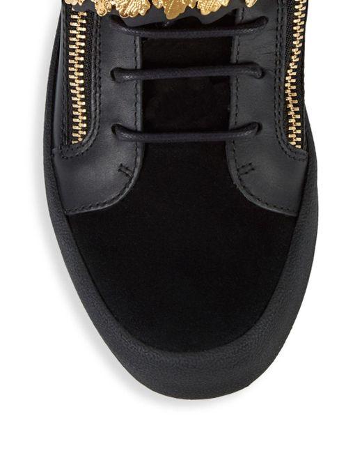 3ea24e249 ... Giuseppe Zanotti - Black Goldleaf High-top Sneakers - Lyst ...