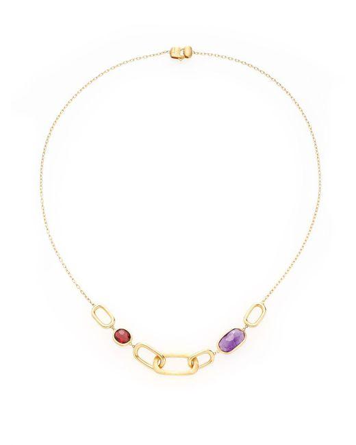 Marco Bicego - Metallic Murano Amethyst, Garnet & 18k Yellow Gold Link Necklace - Lyst