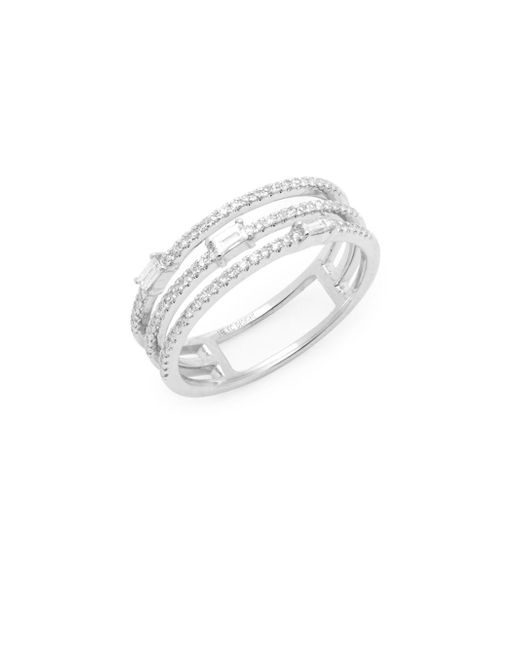 KC Designs - 14k White Gold And Diamond Cut-out Ring - Lyst