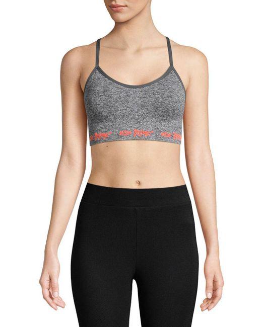Betsey Johnson - Gray Knit Sports Bra - Lyst