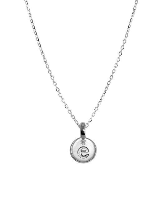 Alex Woo - Metallic Silver Mini Letter E Pendant Necklace - Lyst