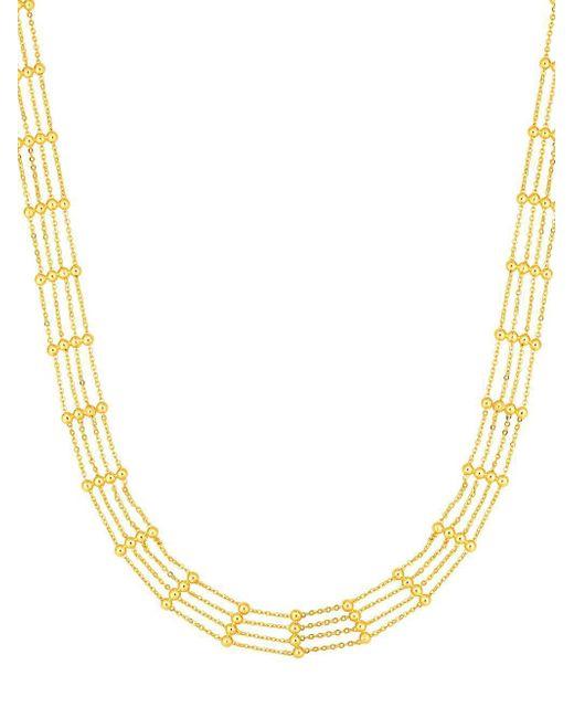 Saks Fifth Avenue - Metallic 14k Yellow Gold Multi-row Cahin Necklace - Lyst