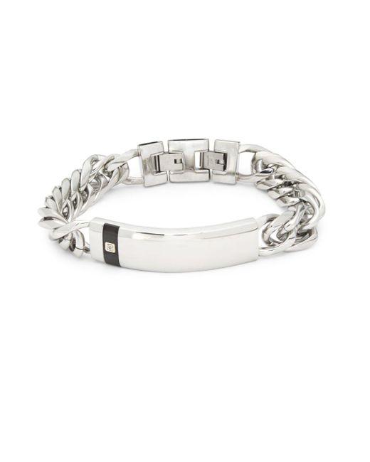 Saks Fifth Avenue - Metallic Diamond And Stainless Steel Bracelet - Lyst