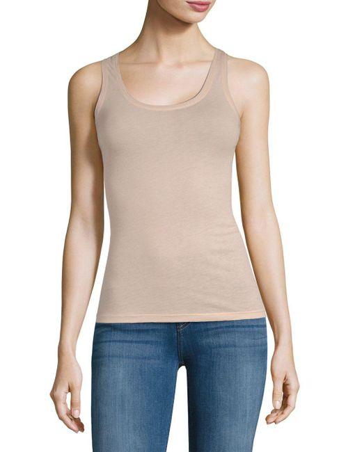 Skin Organic - Pink Cotton Slim Tank Top - Lyst