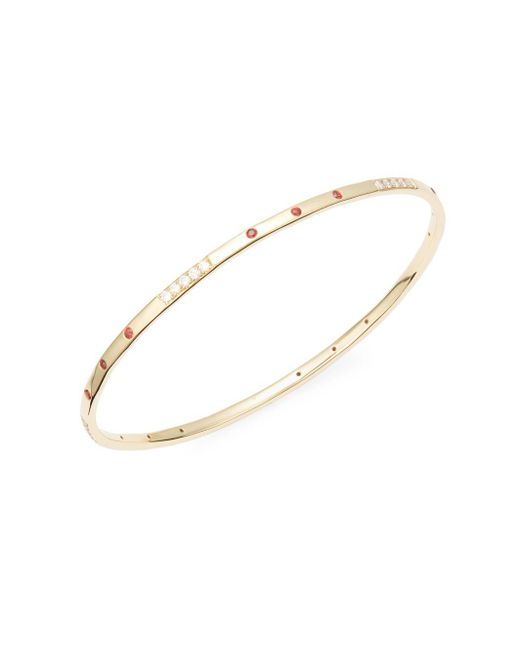 Ippolita - Metallic 18k Gold, Diamonds & Orange Sapphire Glamazon Bracelet - Lyst