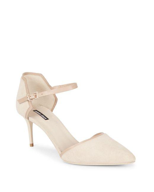 Giorgio Armani   Natural Leather Ankle-strap Pumps   Lyst