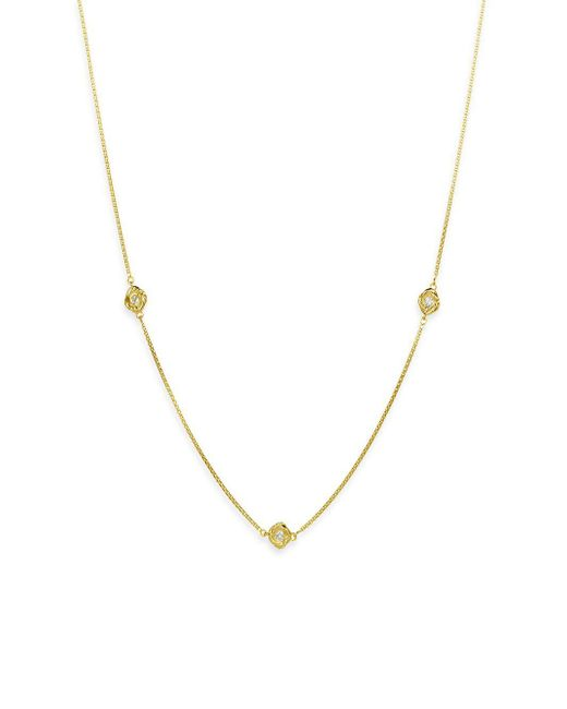 David Yurman - Metallic Infinity 18k Yellow Gold & Diamond Necklace - Lyst