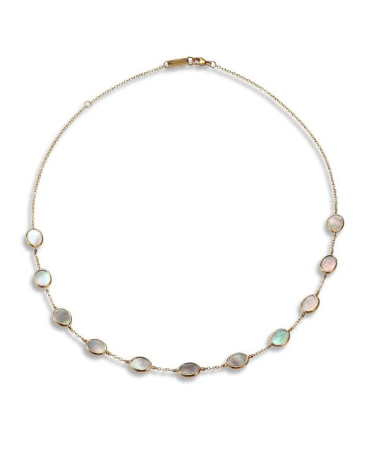 Ippolita | Metallic Polished Rock Candy Black Shell & 18k Yellow Gold Small Oval Station Necklace | Lyst