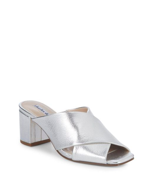 Charles David - Crissaly Metallic Leather Sandals - Lyst
