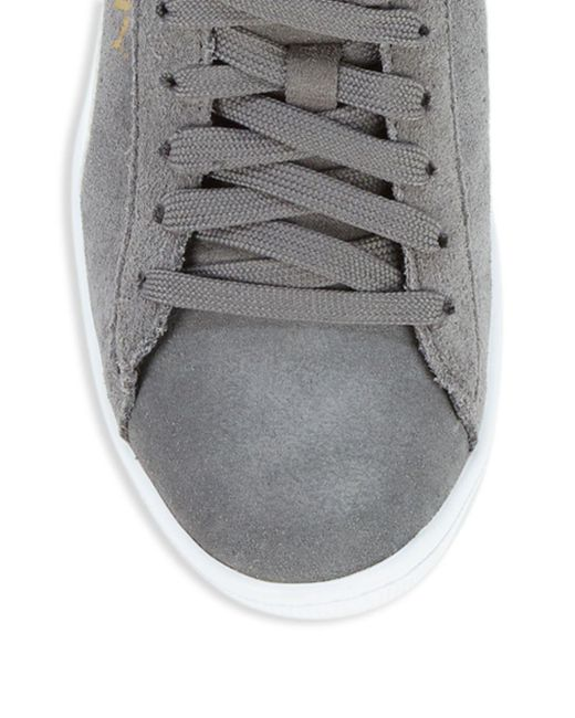 586f346a8d46 ... PUMA - Gray Vikky Suede Low-top Sneakers for Men - Lyst ...