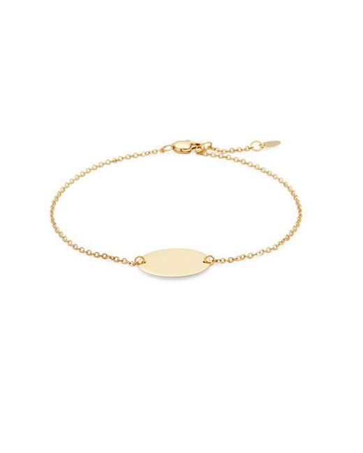 Saks Fifth Avenue - Metallic 14k Yellow Gold Oval Bracelet - Lyst