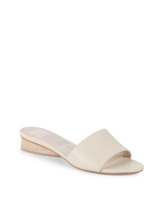 Dolce Vita - White Adalea Leather Slides - Lyst