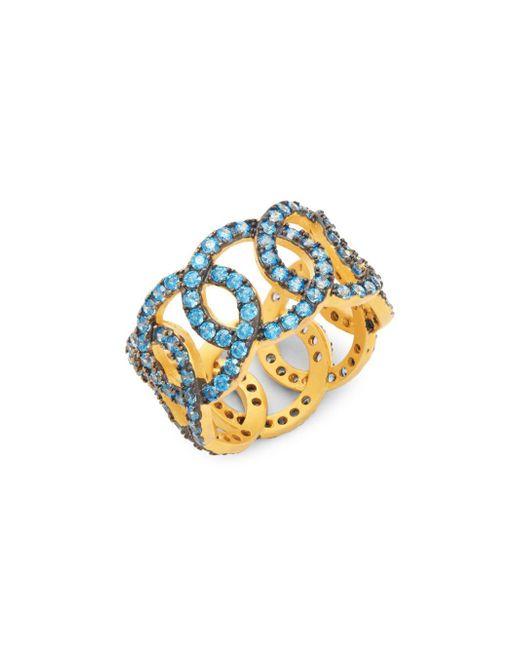 Freida Rothman - Metallic Baroque Blues Giotto Crystal Ring - Lyst