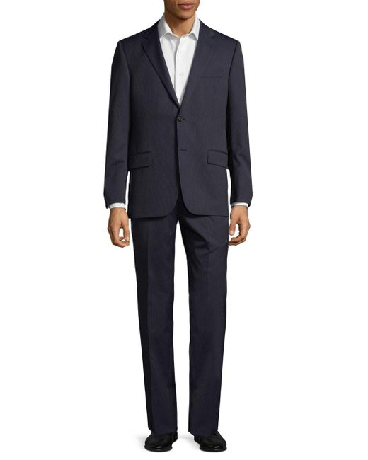 Hickey Freeman - Blue Pinstripe Wool Suit for Men - Lyst